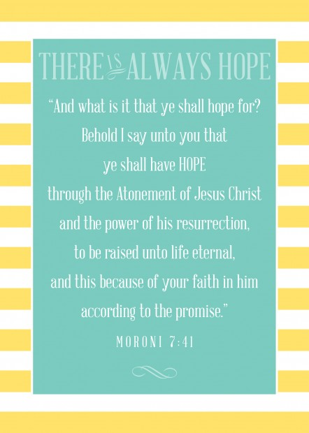 5 by 7 there is always hope freebie