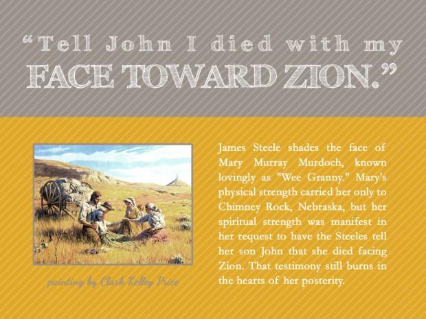 face toward zion