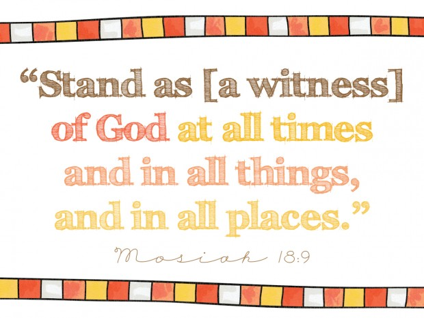 stand as a witness of god