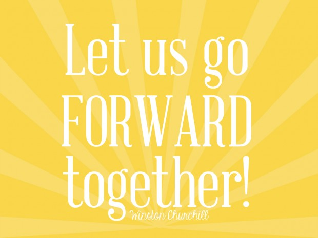 let us go forward together