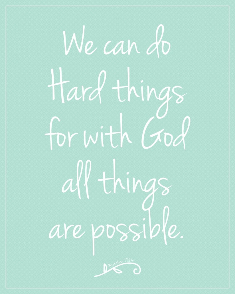 we can do hard things with god