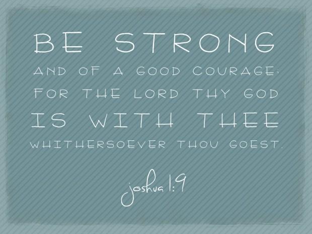 be strong joshua 1 9