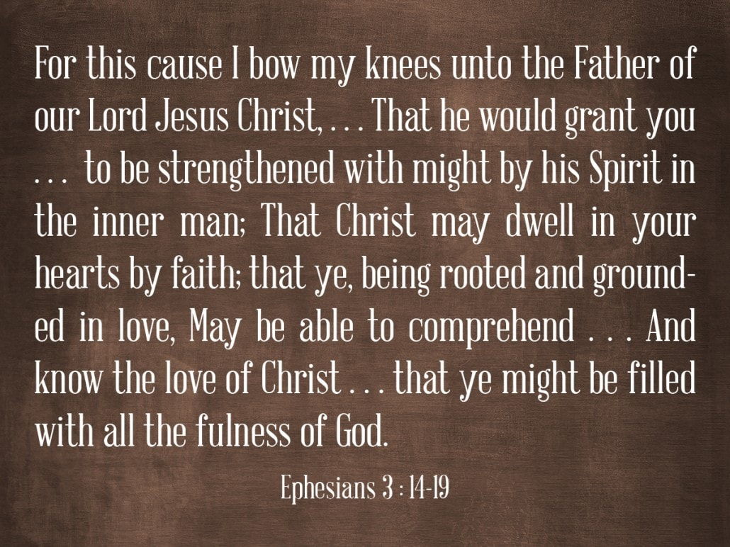 ephesians 3 14 through 19