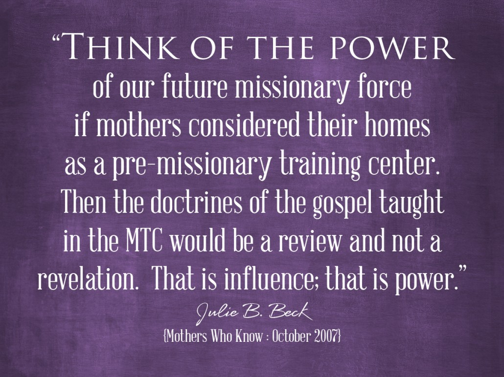 think of the power missionaries
