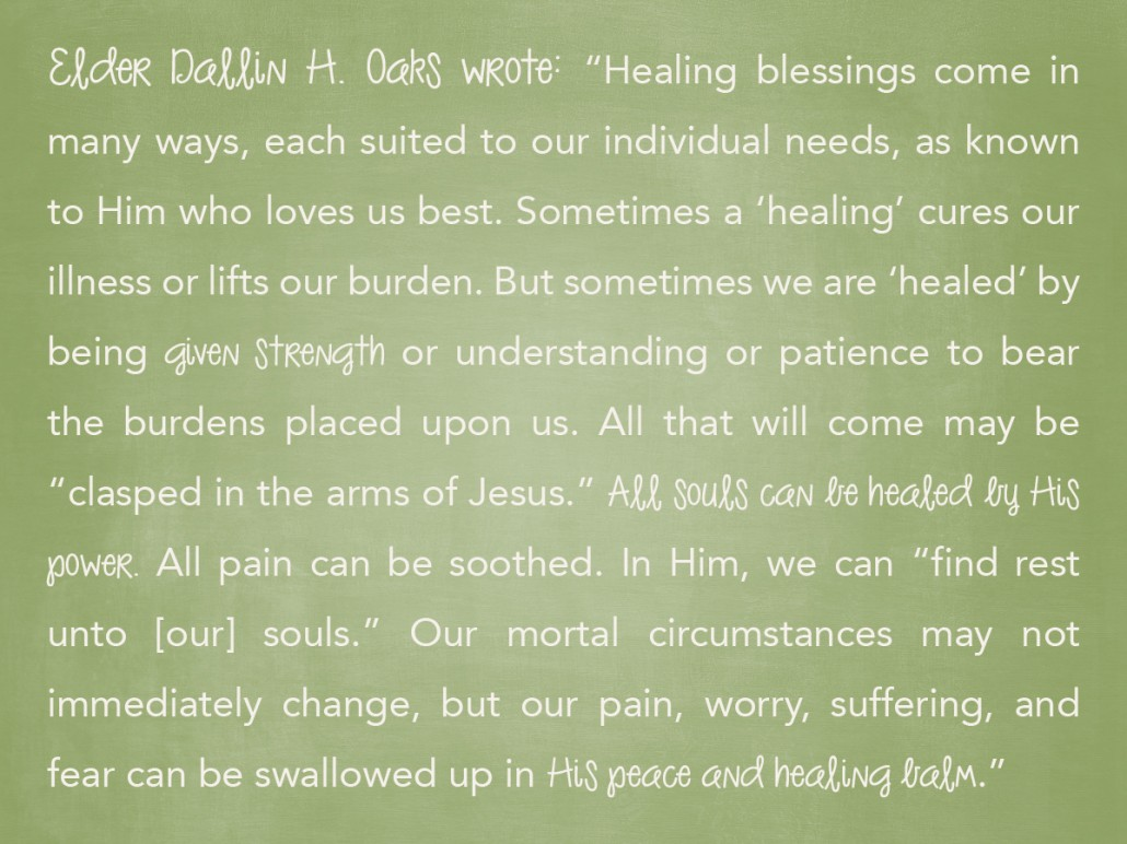 dallin h oaks healings