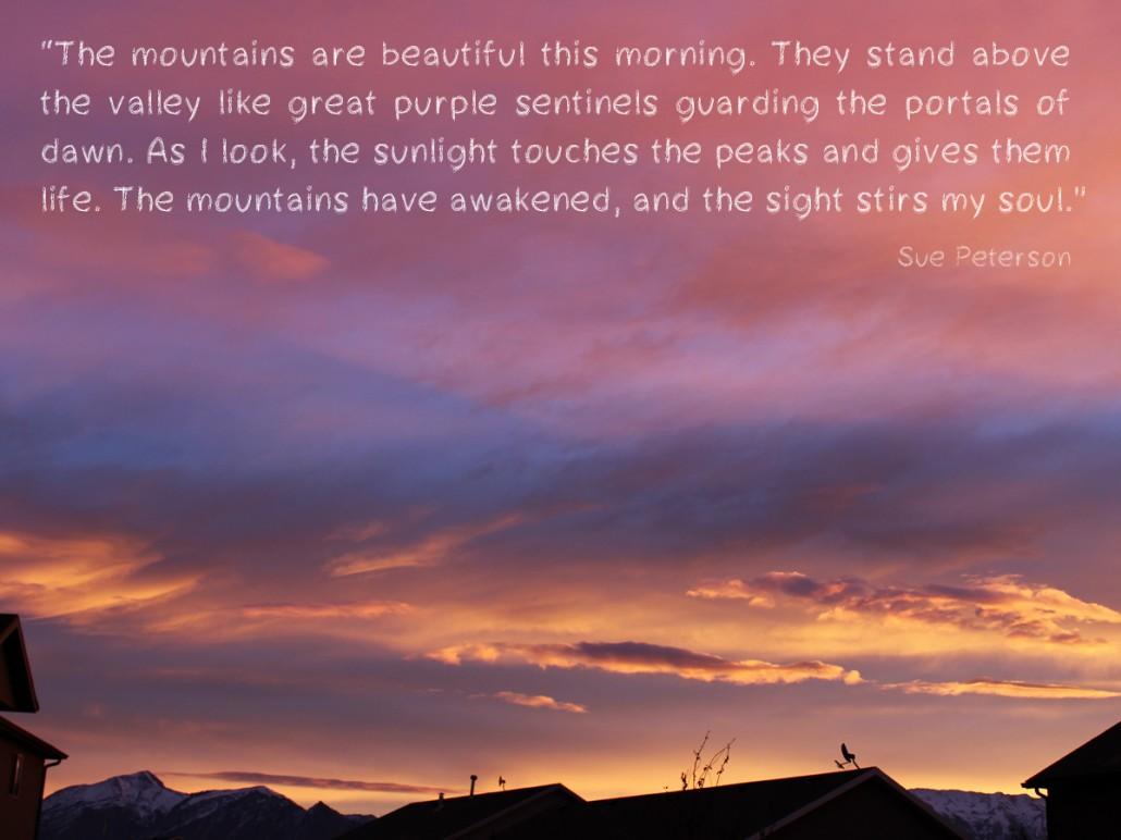 mountains morning